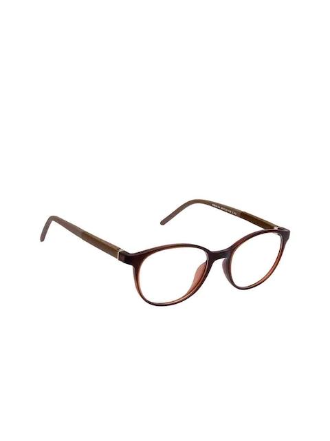 Cardon Unisex Brown Solid Full Rim Round Frames