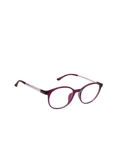 Cardon Unisex Purple Solid Full Rim Round Frames EWCD1734NEO6079C4