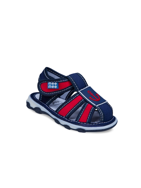 MeeMee Boys Navy Blue & Red Fisherman Sandals