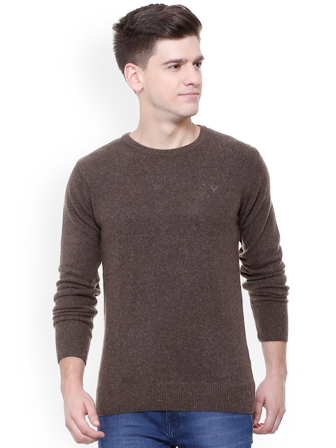 Allen Solly Men Brown Solid Pullover