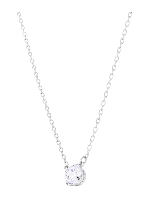 SWAROVSKI Women Rhodium Plated Pendent Set