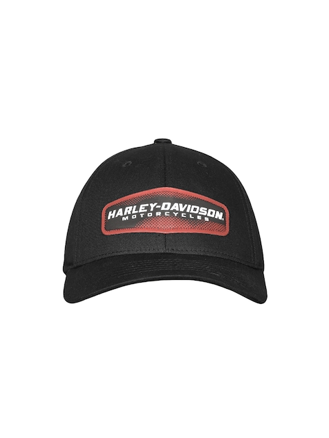 Harley-Davidson Men Black Solid Baseball Cap
