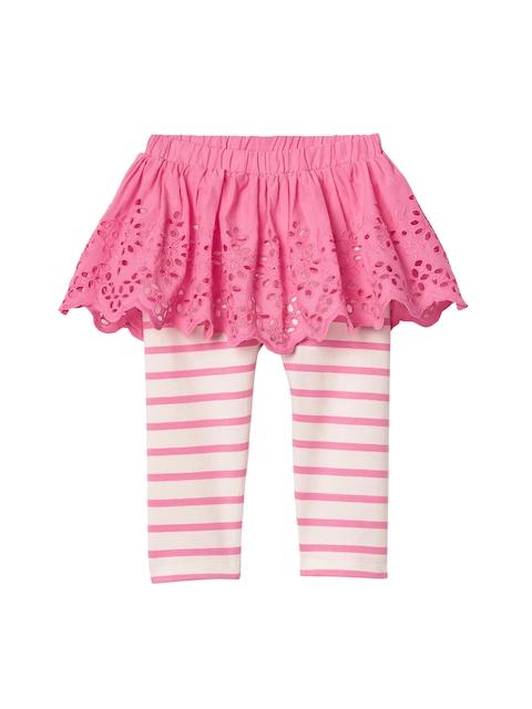 GAP Girls Pink Eyelet Skirt Legging Duo