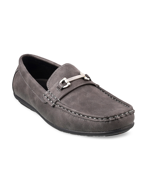 Mochi Boys Grey Loafers
