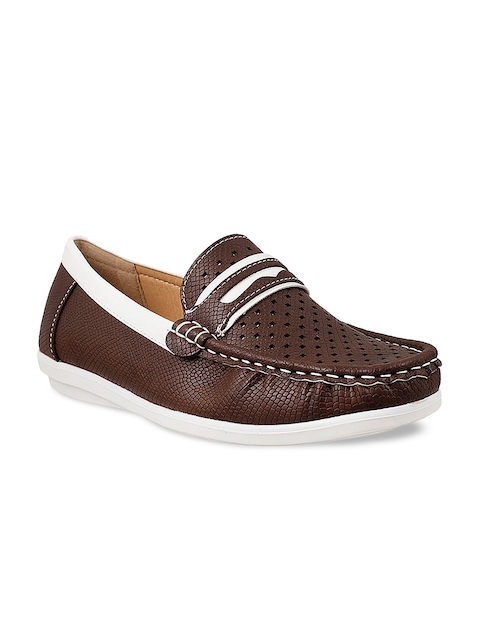Mochi Boys Brown Loafers