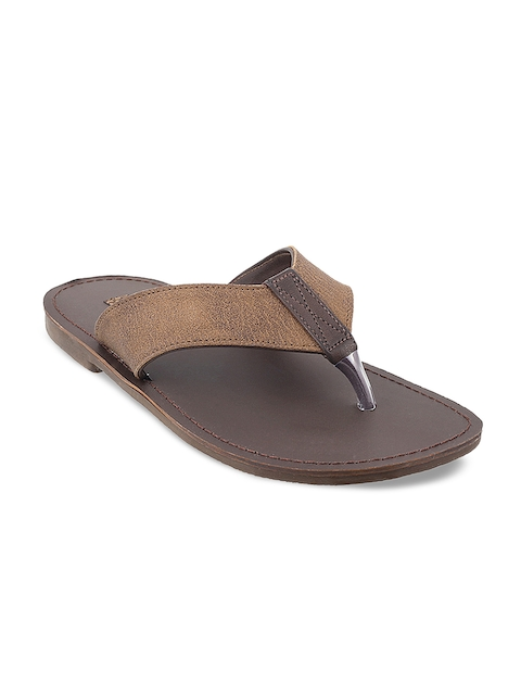 Mochi Boys Brown Comfort Sandals
