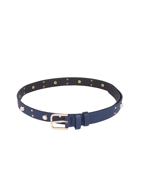 Globus Women Navy Blue & White Embellished Belt