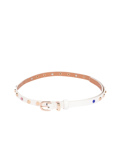 Globus Women White Embellished Belt