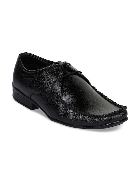 Bruno Manetti Men Black Synthetic Leather Formal Derbys