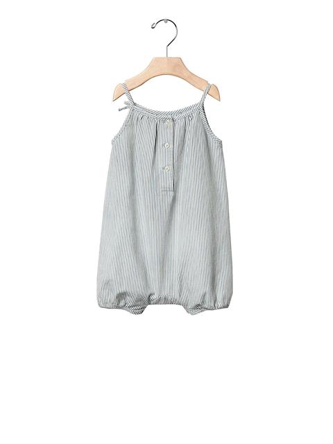 GAP Girls Blue and White 1969 Railroad Stripe Denim Bodysuit