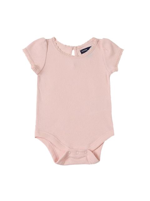 GAP Girls Pink Short Sleeve Lace Bodysuit