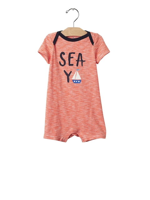 GAP Girls Orange Sea Ya Shortie Bodysuit