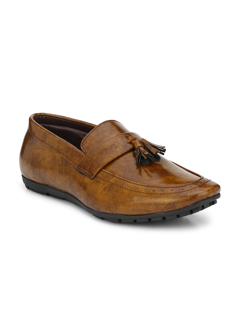 Guava Men Tan Brown Formal Slip-Ons