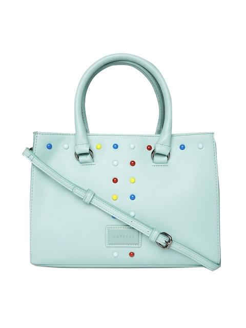 Caprese Blue Embellished Handheld Bag