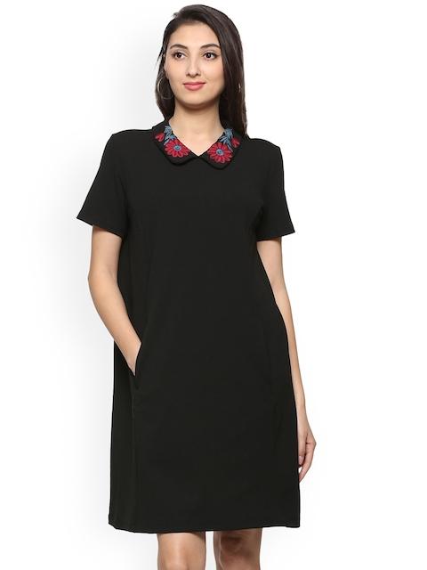Allen Solly Women Black Solid Shirt Dress