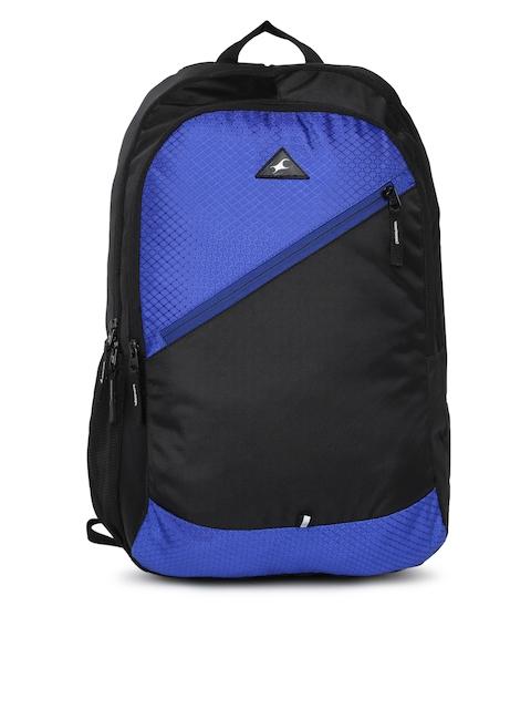 Fastrack Men Blue & Black Colourblocked Backpack