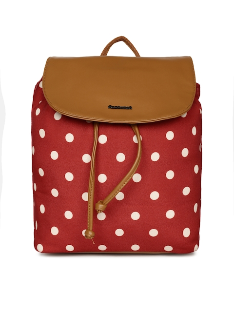 Fastrack Unisex Red & White Printed Backpack