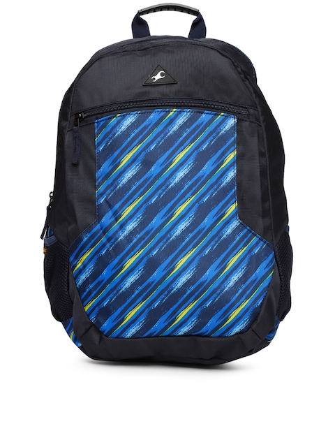 Fastrack Unisex Navy Blue Graphic Backpack