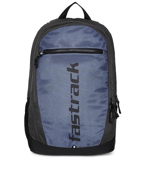 Fastrack Unisex Blue Colourblocked Backpack