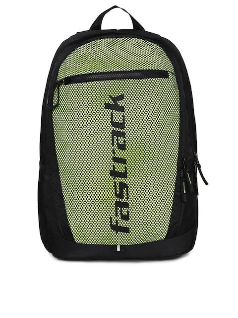 Fastrack Unisex Green & Black Colourblocked Backpack