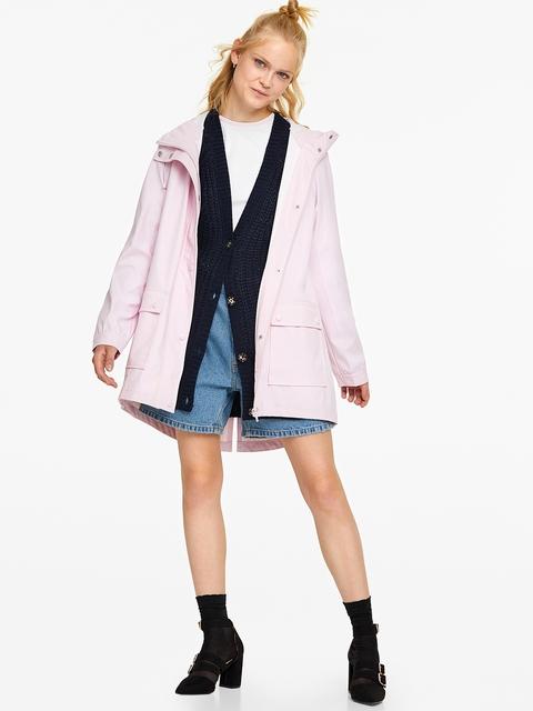 OVS Women Pink Hooded Waterproof Rain Jacket
