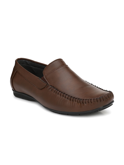 Fentacia Men Brown Formal Slip-Ons