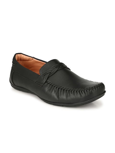 Fentacia Men Black Formal Slip-Ons