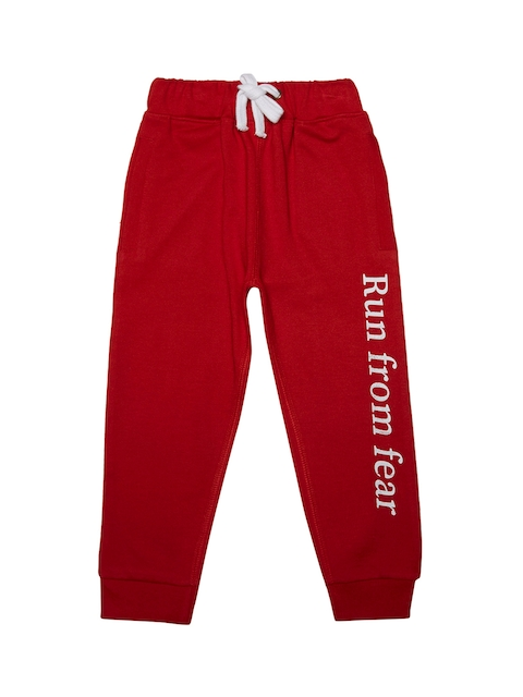 Pepito Girls Red Straight Fit Joggers