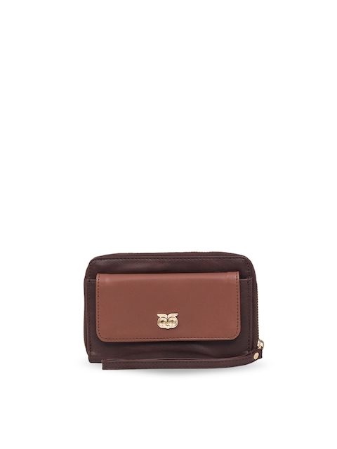 Chumbak Women Brown Solid Two Fold Wallet