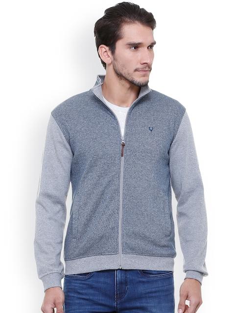 Allen Solly Men Blue Solid Sweatshirt