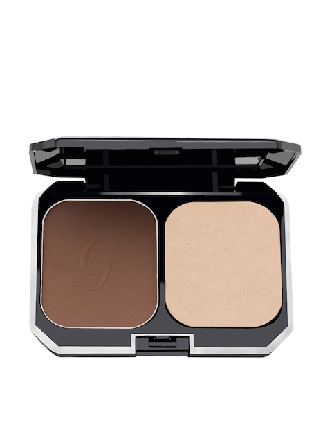 GlamGals Women 2 in 1 Two Way Cake Compact Makeup Red Earth Foundation SPF 15 10g