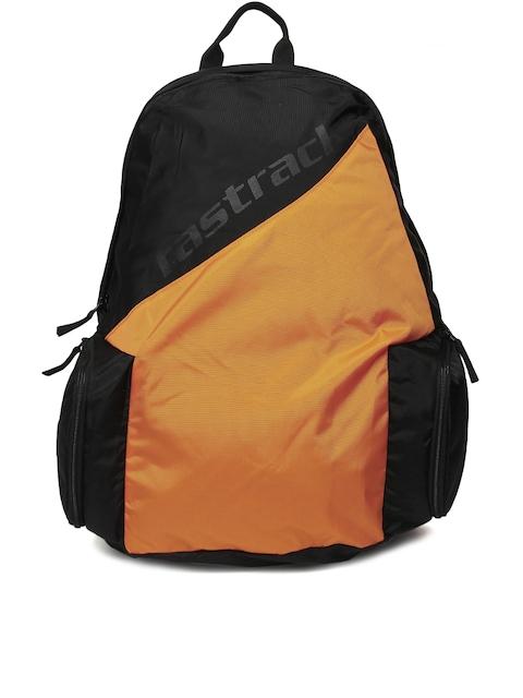 Fastrack Men Black & Orange G-Backpack