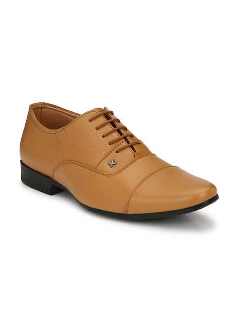 Guava Men Tan Semiformal Lace-Up Brogues