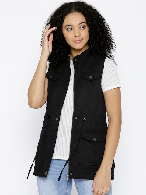 Trufit Women Black Solid Tailored Jacket
