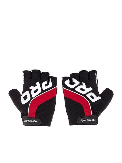 Sportigoo Men Black & Red PRO Gym & Fitness Gloves