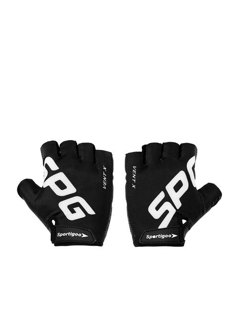 Sportigoo Men Black & White SPG Gym & Fitness Gloves