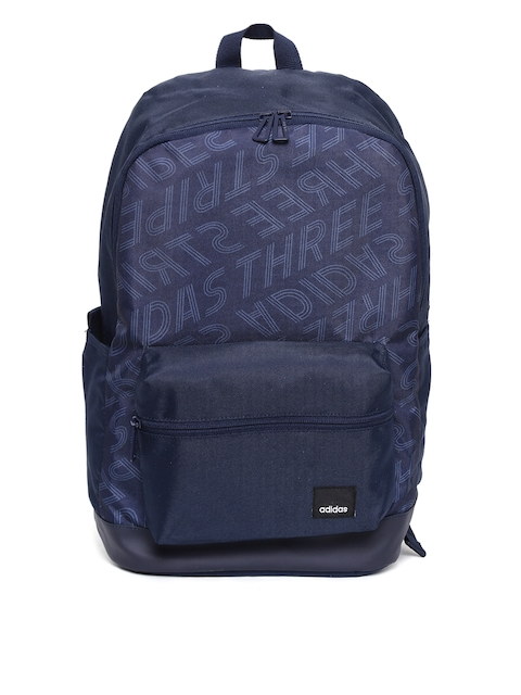 Adidas Unisex Navy Blue BP AOP Daily Printed Backpack