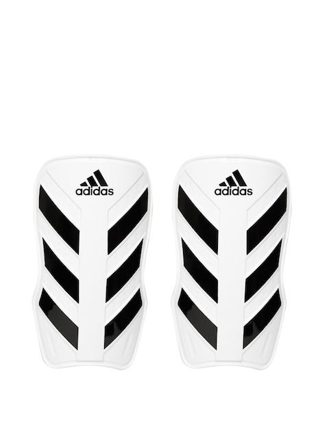 ADIDAS Unisex White Striped Everlesto Shin Guard