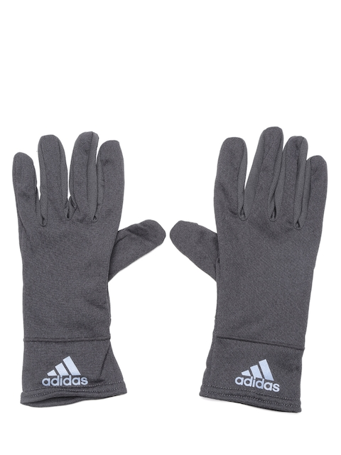ADIDAS Unisex Charcoal Grey Climaheat Touchscreen Compatible Gloves