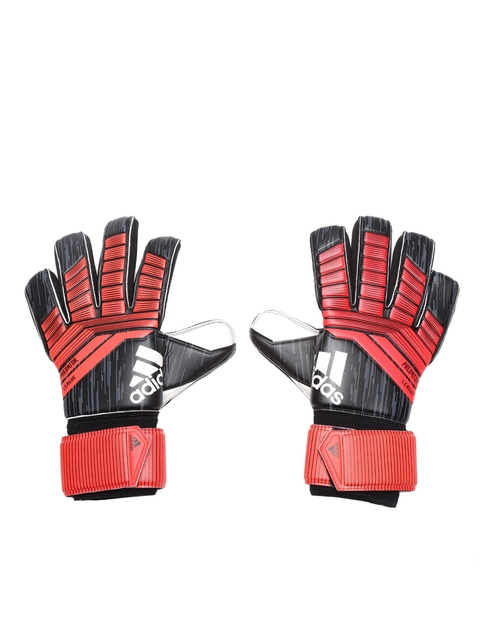 ADIDAS Unisex Red & Black Predator League Striped Football Gloves