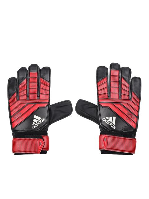 ADIDAS Unisex Red & Black Predator Train Striped Football Gloves