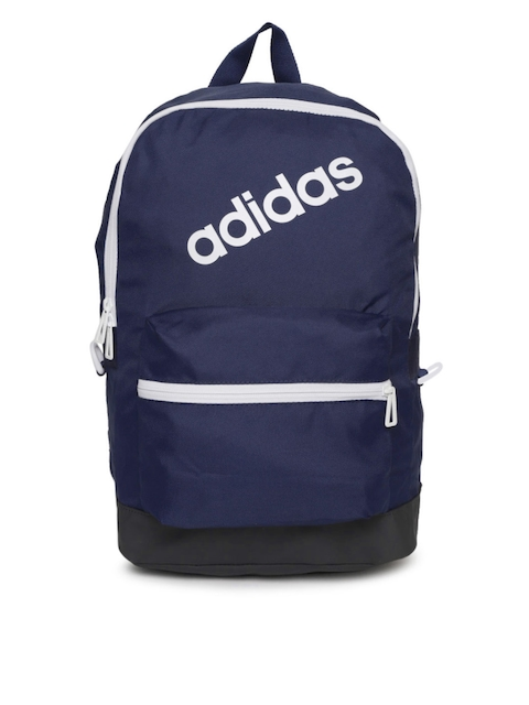 Adidas Men Navy Brand Logo Backpack