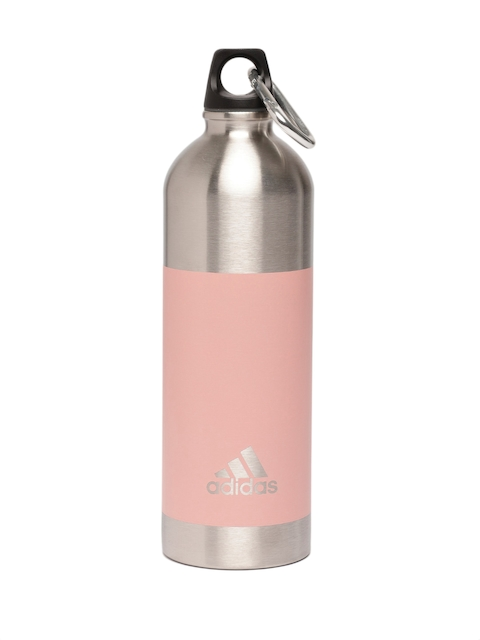 bac3acd558 30%off ADIDAS Unisex Silver-Toned & Pink Colourblocked Steel Water Bottle  750 ml