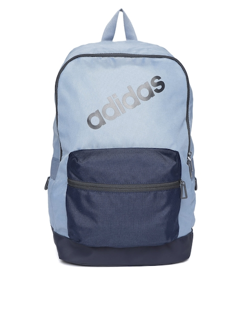 Adidas Men Blue Brand Logo Backpack