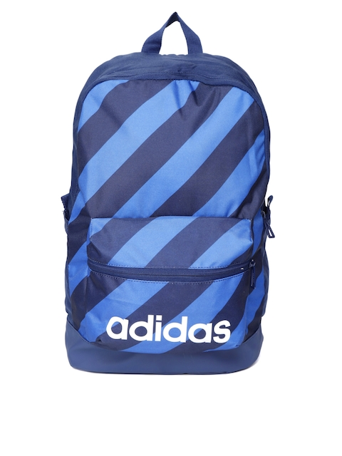 Adidas Unisex Blue AOP Daily Striped Backpack