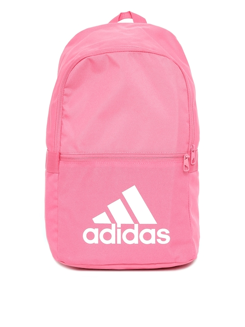 Adidas Unisex Pink Classic 18 Brand Logo Print Backpack