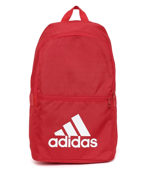 Adidas Unisex Red Solid Classic Backpack