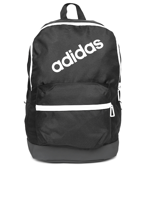 Adidas Men Black Daily Brand Logo Backpack