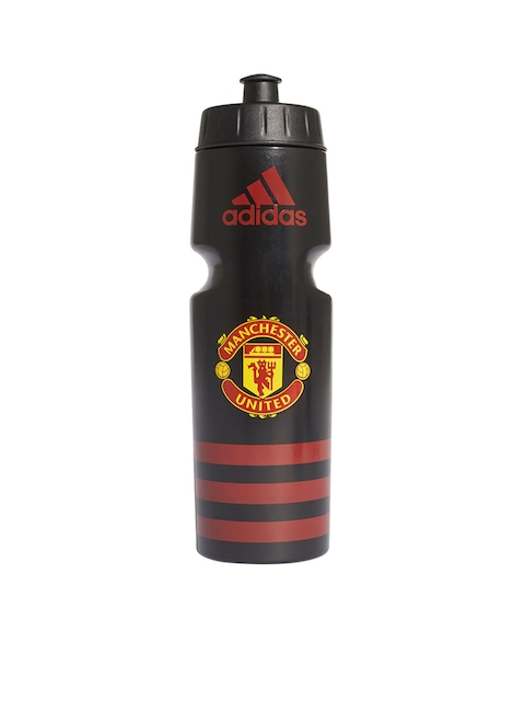 ADIDAS Black & Red Manchester United Printed Football Sipper Bottle 750 ml