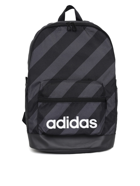 618f7a8e6d29 40%off Adidas Unisex Black   Charcoal Grey AOP Daily Striped Backpack